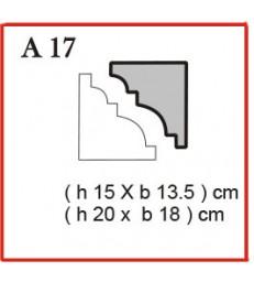 Cornice o Cassero profilo A17 in polistirolo da getto