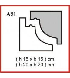 Cornice o Cassero profilo A21 in polistirolo da getto