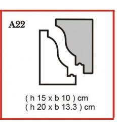 Cornice o Cassero profilo A22 in polistirolo da getto