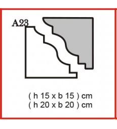 Cornice o Cassero profilo A23 in polistirolo da getto