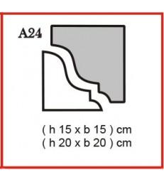 Cornice o Cassero profilo A24 in polistirolo da getto