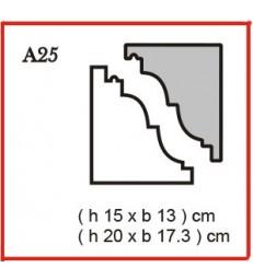 Cornice o Cassero profilo A25 in polistirolo da getto