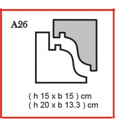 Cornice o Cassero profilo A26 in polistirolo da getto
