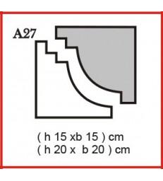 Cornice o Cassero profilo A27 in polistirolo da getto