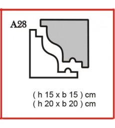 Cornice o Cassero profilo A28 in polistirolo da getto