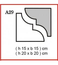 Cornice o Cassero profilo A29 in polistirolo da getto