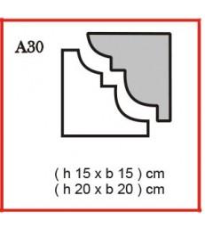 Cornice o Cassero profilo A30 in polistirolo da getto