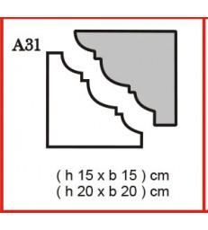 Cornice o Cassero profilo A31 in polistirolo da getto