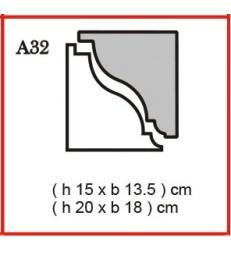 Cornice o Cassero profilo A32 in polistirolo da getto
