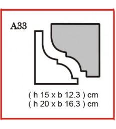 Cornice o Cassero profilo A33 in polistirolo da getto
