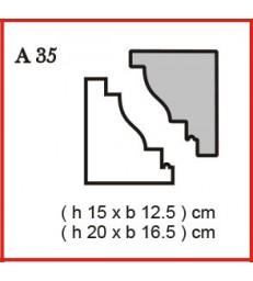 Cornice o Cassero profilo A35 in polistirolo da getto