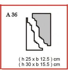 Cornice o Cassero profilo A36 in polistirolo da getto