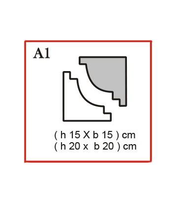 Cornice o Cassero profilo A1 in polistirolo da getto
