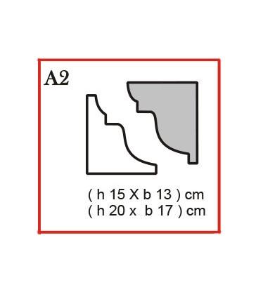 Cornice o Cassero profilo A2 in polistirolo da getto