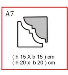 Cornice o Cassero profilo A7 in polistirolo da getto
