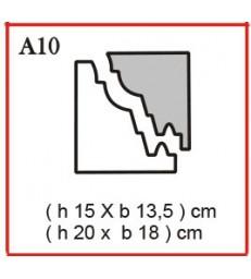 Cornice o Cassero profilo A10 in polistirolo da getto