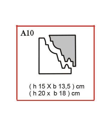 Cornice o Cassero tipo A9 in polistirolo da getto