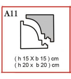 Cornice o Cassero profilo A11 in polistirolo da getto