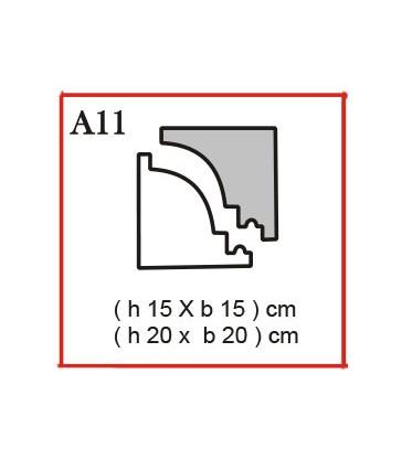 Cornice o Cassero tipo A11 in polistirolo da getto