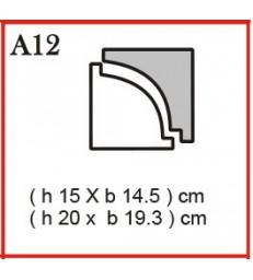 Cornice o Cassero profilo A12 in polistirolo da getto