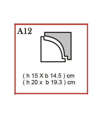Cornice o Cassero tipo A12 in polistirolo da getto