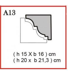 Cornice o Cassero profilo A13 in polistirolo da getto