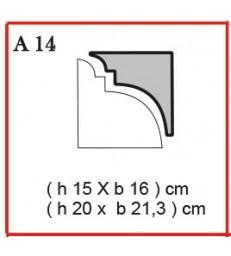 Cornice o Cassero profilo A14 in polistirolo da getto