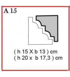 Cornice o Cassero profilo A15 in polistirolo da getto