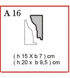 Cornice o Cassero profilo A16 in polistirolo da getto